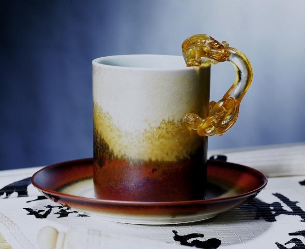 茶末大龍把馬克杯 1