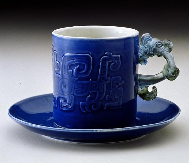 寶藍圖騰馬克杯 1
