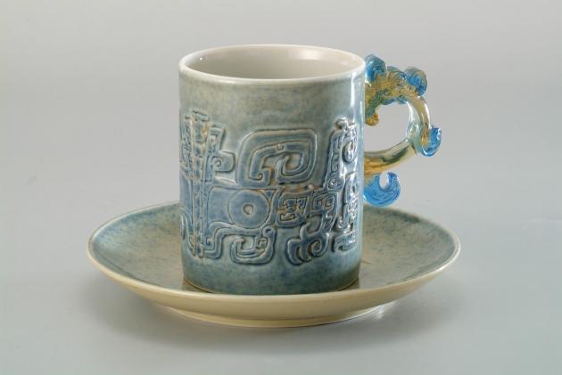 青瓷藍點馬克杯 1