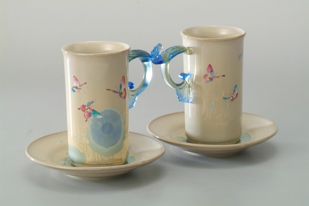 淺藍蝴蝶合歡對杯 1
