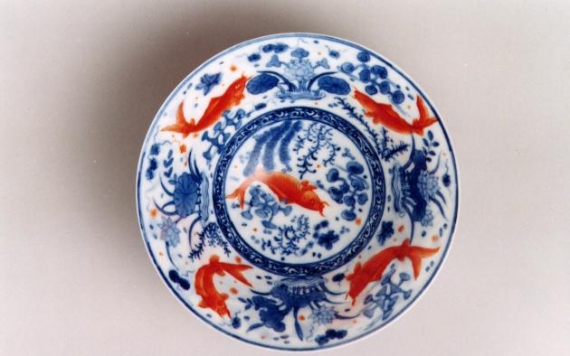 紅魚薄胎碗 1