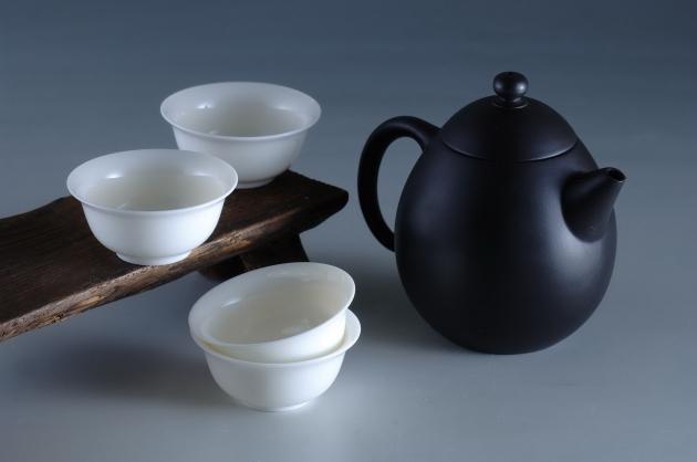 夾碳黑陶壺組(龍蛋) 1