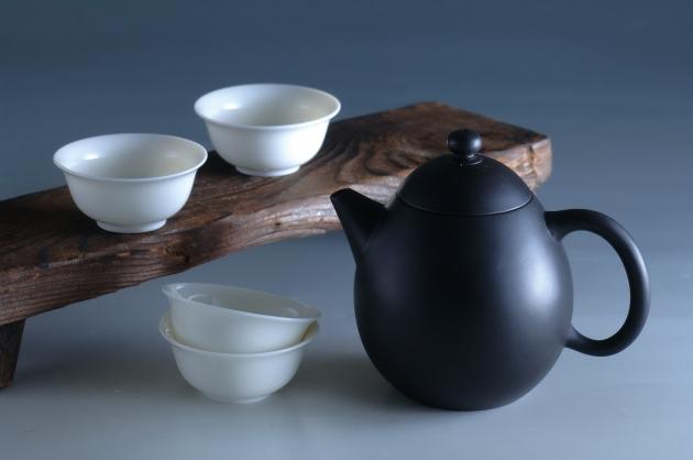 夾碳黑陶壺組(龍蛋) 2