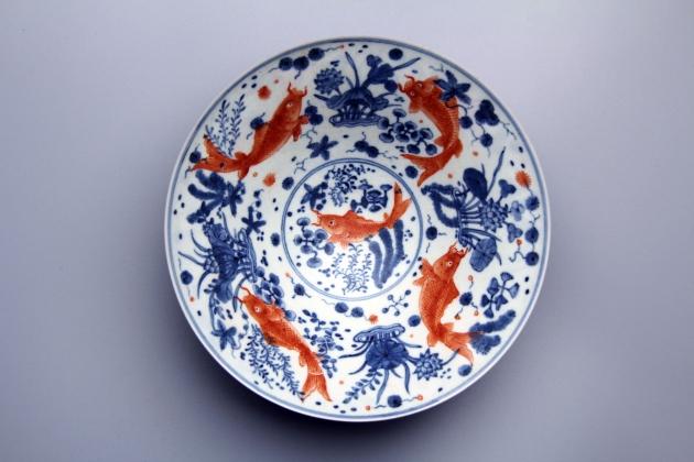 紅魚薄胎碗 2