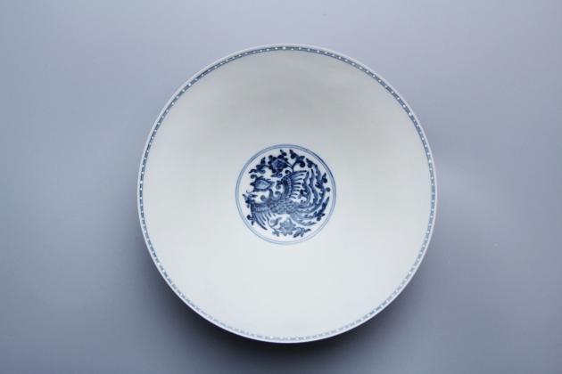 浮雕龍鳳程祥薄胎碗 1