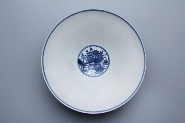 浮雕池塘景色薄胎碗 2